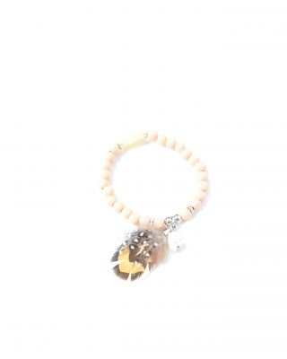 Feather bracelet pink