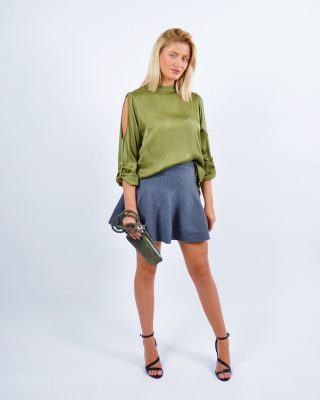 cut out army blouse