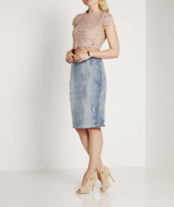 denim skirt trend alert